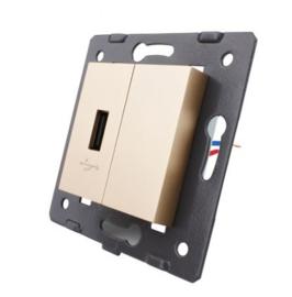 Livolo | Module | SR | USB aansluiting enkelvoudig | Goud