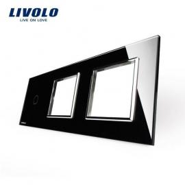 Livolo | Glasplaat | 1+D+D | Zwart