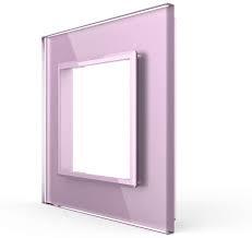 Livolo | Roze glasplaat | SR | Enkelvoudig