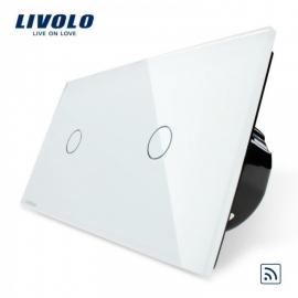 Livolo | Wit 1+1 | Enkelpolige schakelaar | Afstandbediening