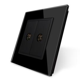 Livolo | Zwart | TV aansluiting tweevoudig