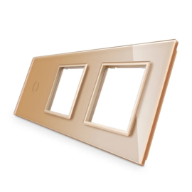 Livolo | Goud glasplaat | Combinatie | 1+SR+SR