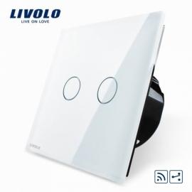 Livolo | Wit tweevoudig Wisselschakelaar | Afstandbediening
