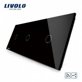 Livolo | Zwart 1+1+1 Wisselschakelaar | Afstandbediening
