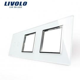Livolo | Wit glasplaat | Combinatie | 2+ (1+1 Deluxe)