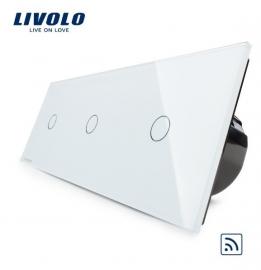 Livolo | Wit 1+1+1 | Enkelpolige schakelaar | Afstandbediening