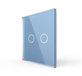 Livolo | Blauw glasplaat | Touchschakelaar | Tweevoudig