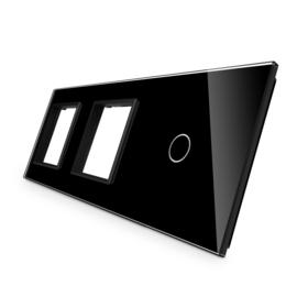 Livolo | Zwart glasplaat | Combinatie | SR+SR+1