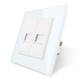 Livolo | Wit | Netwerk aansluiting tweevoudig
