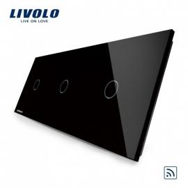 Livolo | Zwart 1+1+1 | Enkelpolige schakelaar | Afstandbediening