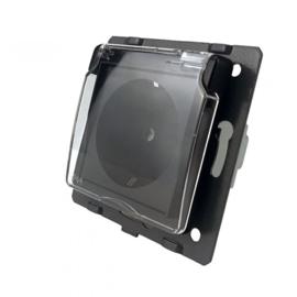 Livolo | Module | SR | Wandcontactdoos + IP deksel | Zwart