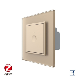 Livolo | SR | Goud | Enkelvoudige wisselschakelaar | Zigbee/wifi app