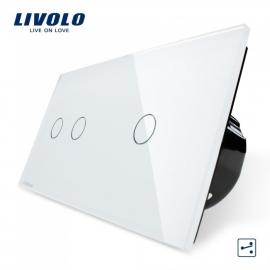 Livolo | Wit 2+1 | Wisselschakelaar