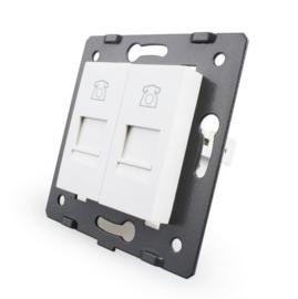 Livolo | Module | SR | Telefoon aansluiting tweevoudig | Wit