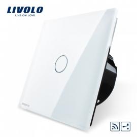Livolo | Wit enkelpolig wisselschakelaar | Afstandbediening