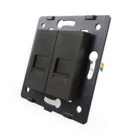 Livolo | Module | SR | Combinatie  | Telefoon en netwerk aansluiting | Zwart