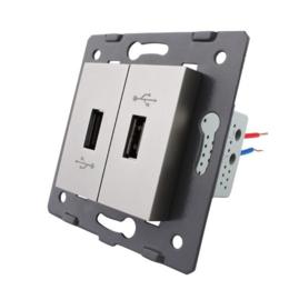 Livolo | Module | SR | USB aansluiting tweevoudig | Grijs