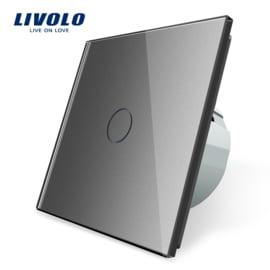 Livolo | Grijs enkelpolige schakelaar | Tijdklok