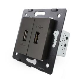 Livolo | Module | SR | USB aansluiting tweevoudig | Zwart