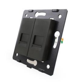 Livolo | Module | SR | Telefoon aansluiting tweevoudig | Zwart