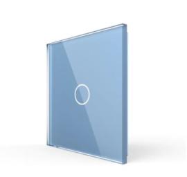 Livolo | Blauw glasplaat | Touchschakelaar | Enkelvoudig