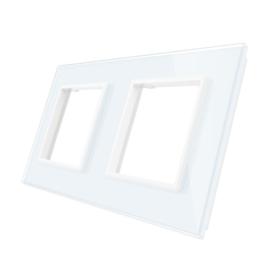 Livolo | Wit glasplaat | SR+SR