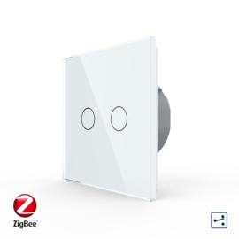 Livolo | Wit tweevoudig | Wisselschakelaar | Zigbee/wifi app