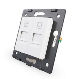Livolo | Module | SR | Combinatie  | Telefoon en netwerk aansluiting | Wit