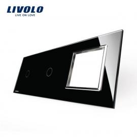 Livolo | Glasplaat | 1+1+D | Zwart