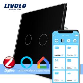 Livolo | Zwart | Serieschakelaar | Zigbee/wifi app