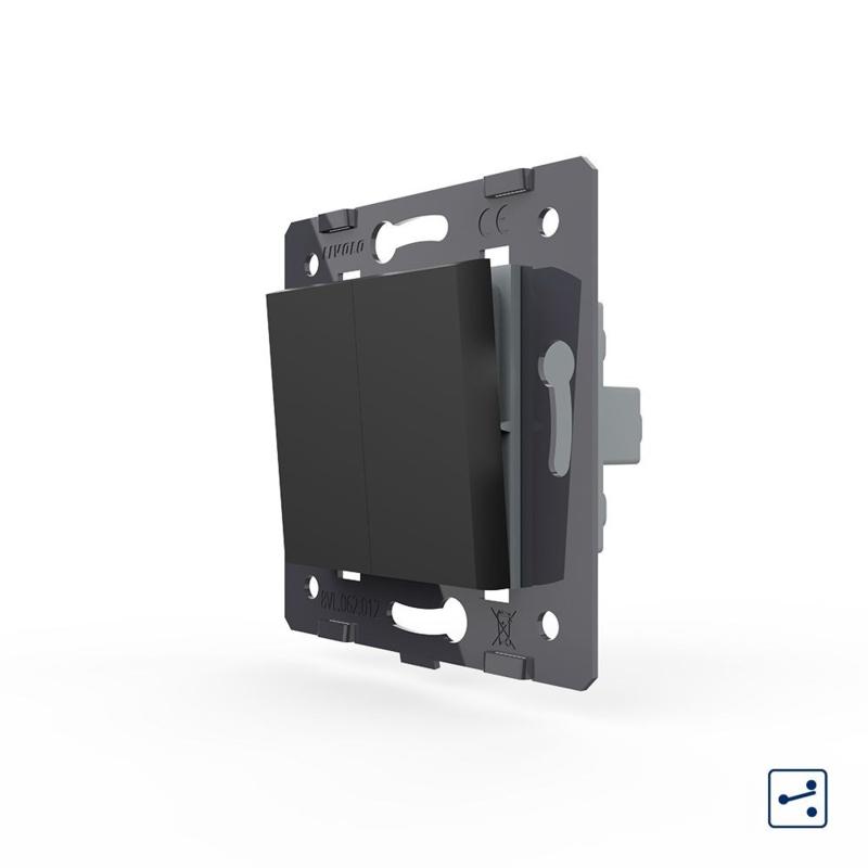 Livolo | Module | SR | Standaard | Wisselschakelaar tweevoudig | Zwart