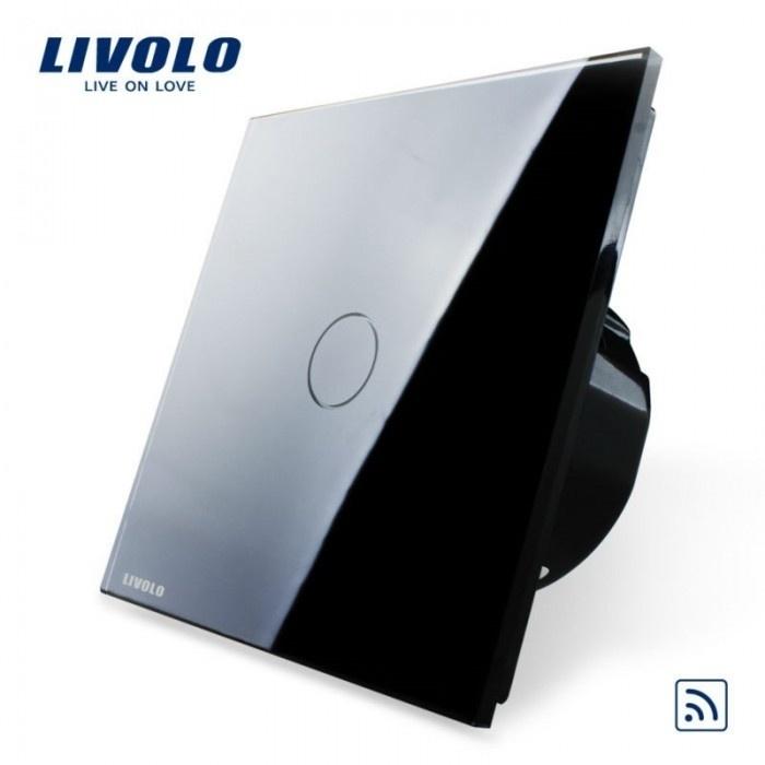 Livolo | Zwart | Enkelpolige schakelaar | Afstandbediening