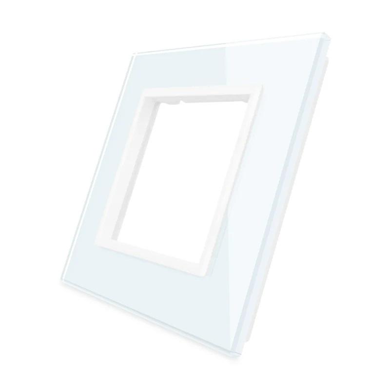 Livolo | Wit glasplaat | SR | Enkelvoudig