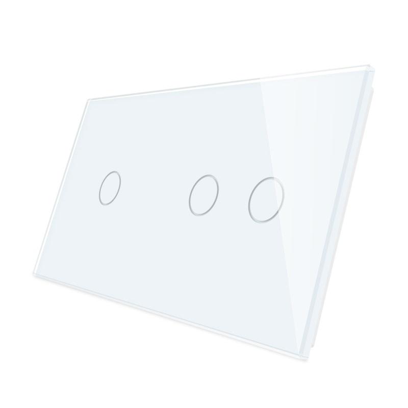 Livolo   Glasplaat   1+2   Wit