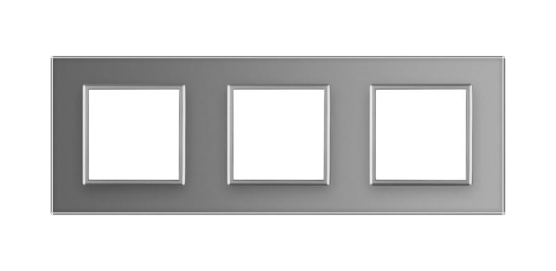 Livolo | Grijs glasplaat | Deluxe | Drievoudig