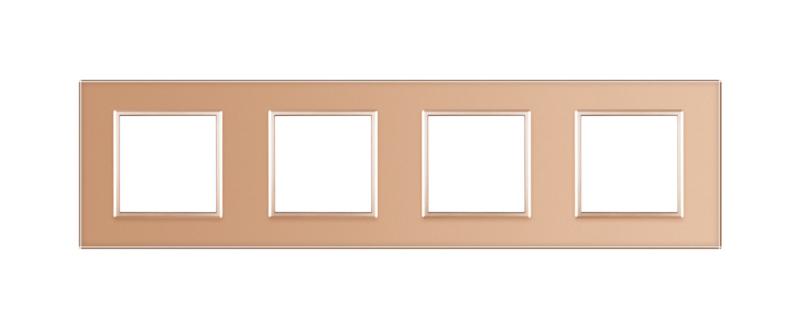 Livolo | Goud glasplaat | SR+SR+SR+SR