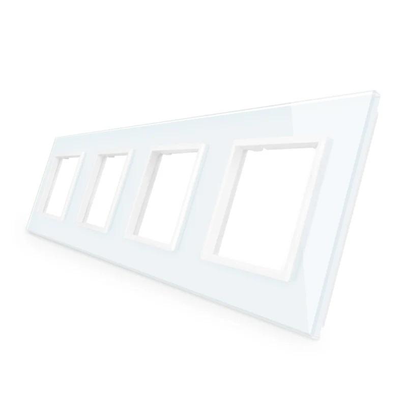 Livolo | Wit glasplaat | SR+SR+SR+SR