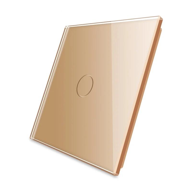Livolo   Goud glasplaat   Touchschakelaar   Enkelvoudig