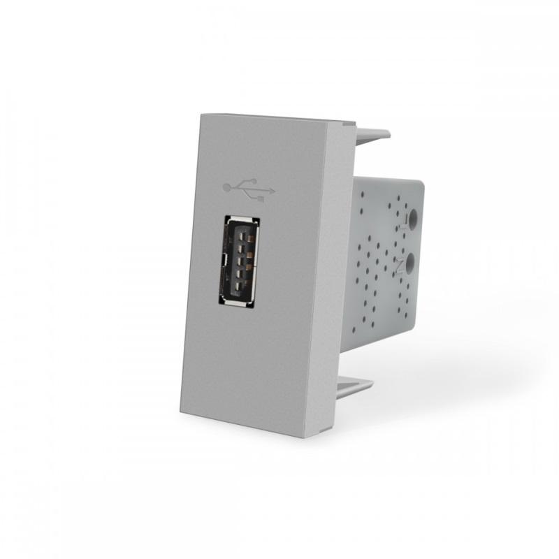 Livolo   SR   Enkel   USB 2.1A   Grijs