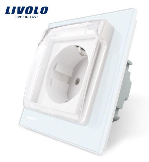 Livolo | Spatwaterdicht IP44 | Klapdeksel | Wit