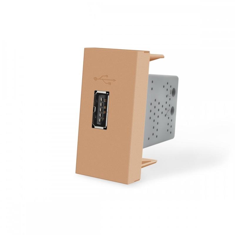 Livolo | SR | Enkel | USB 2.1A | Goud