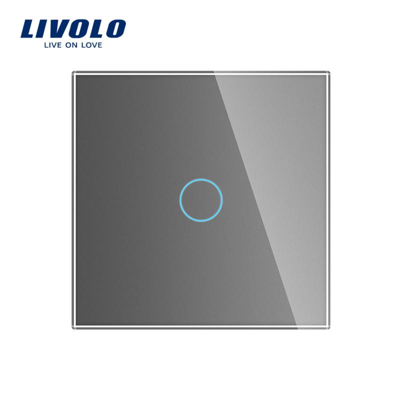 Livolo | Grijs glasplaat | Touchschakelaar | Enkelvoudig