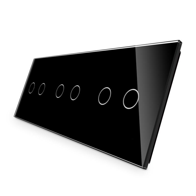 Livolo | Glasplaat | 2+2+2 | Zwart