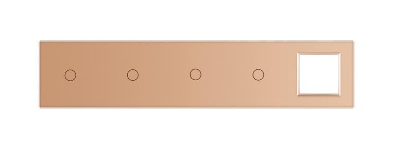 Livolo | Glasplaat | 1+1+1+1+SR | Goud