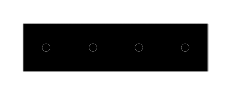 Livolo | Zwart glasplaat | Touchschakelaar | 1+1+1+1