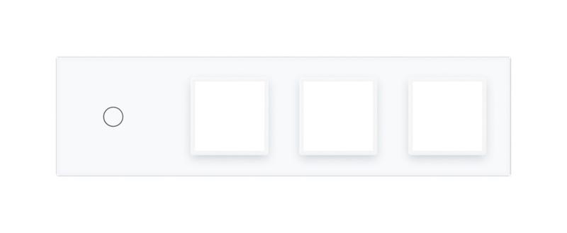 Livolo | Wit glasplaat | Combinatie | 1+SR+SR+SR