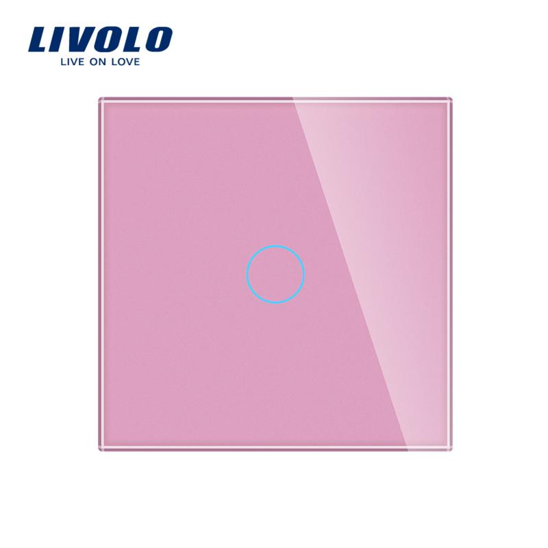 Livolo | Roze glasplaat | Touchschakelaar | Enkelvoudig