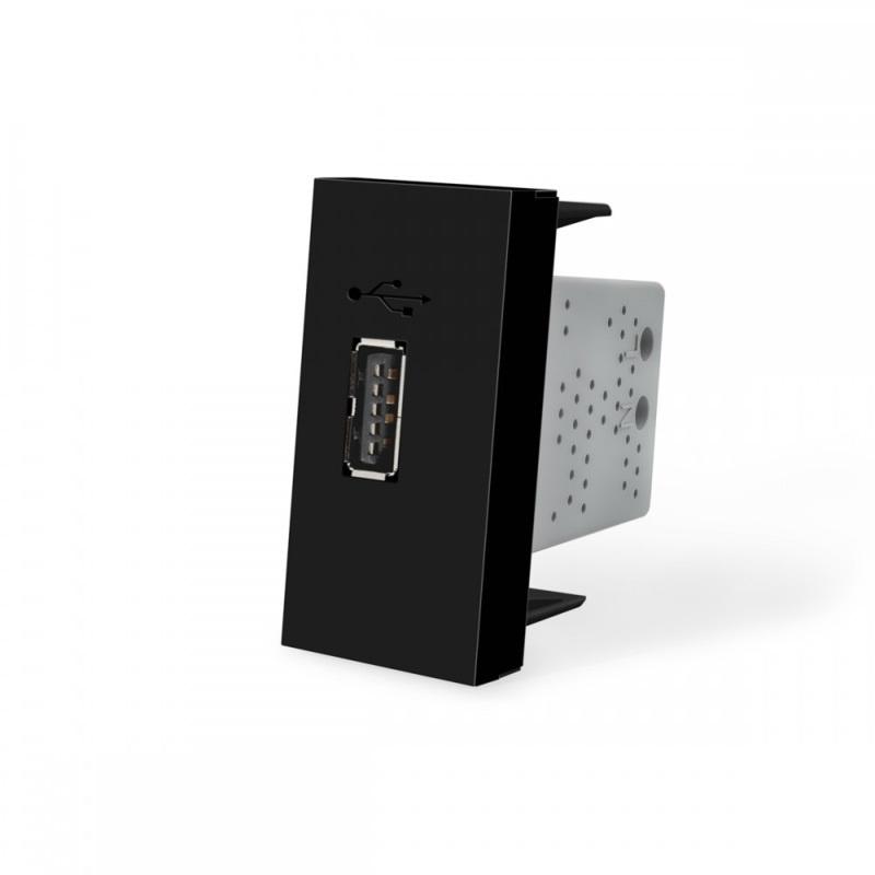 Livolo | SR | Enkel | USB 2.1A | Zwart
