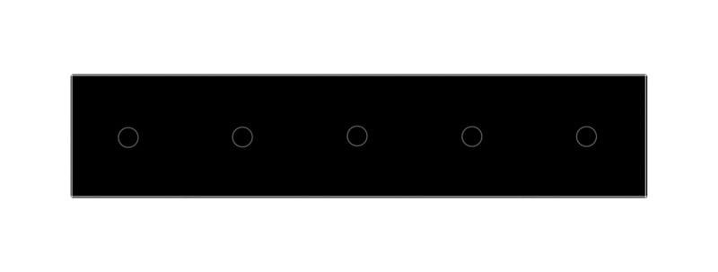 Livolo | Glasplaat | 1+1+1+1+1 | Zwart