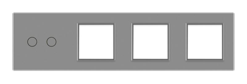 Livolo   Grijs glasplaat   Combinatie   2+SR+SR+SR